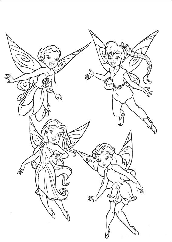 tinkerbell friends coloring pages - photo#17