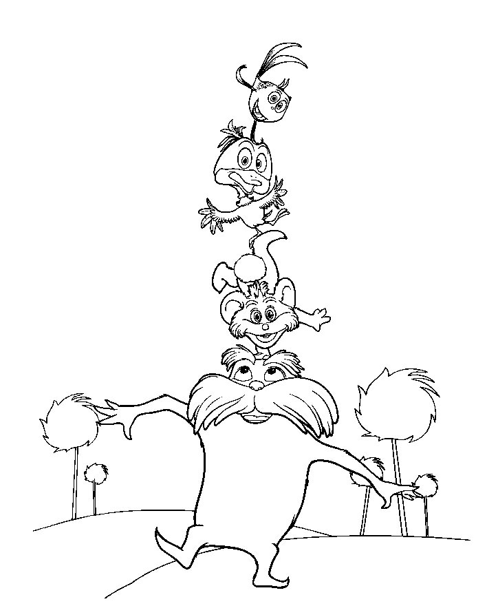The Lorax Bears Coloring Pages Printable Coloring Pages The Lorax Coloring Pages