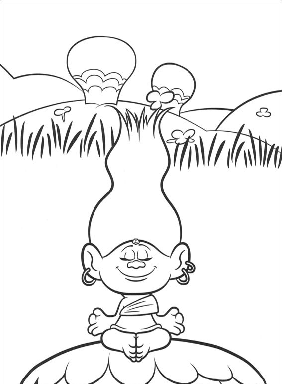 trolls from frozen coloring pages - photo#34